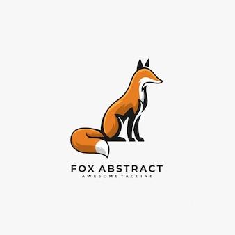 Fox abstract pose   logo.