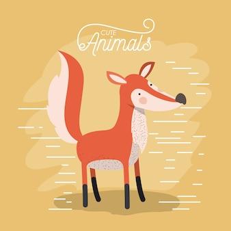 Fox animal caricature