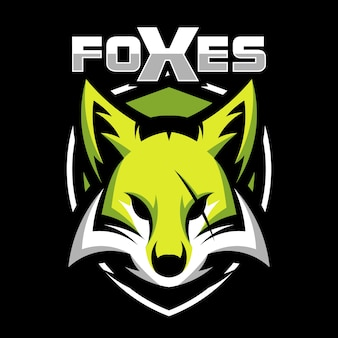 Fox animal mascot head vector illustration logo