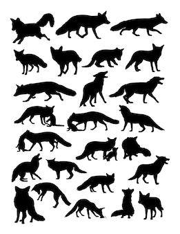 Fox animal silhouette