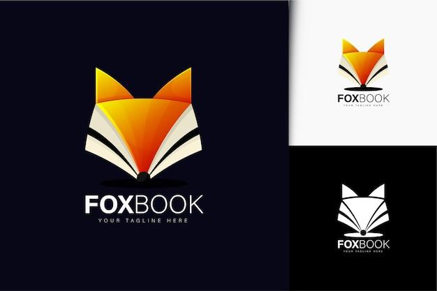Fox book logo design with gradient