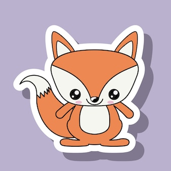 Fox character kawaii style
