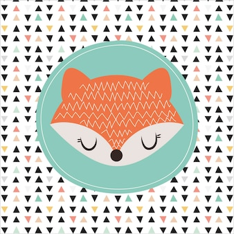 Fox cute illustration