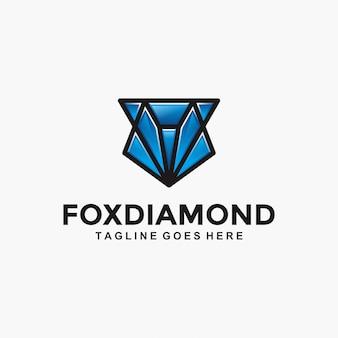 Fox diamond modern logo
