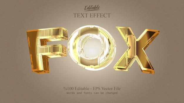 Редактируемый текстовый эффект fox вектор