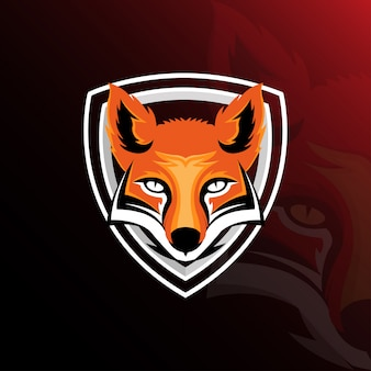Fox esport gaming logo template