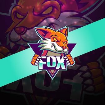 Fox esport mascot logo design