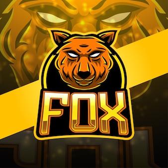 Foxeスポーツマスコットロゴデザイン