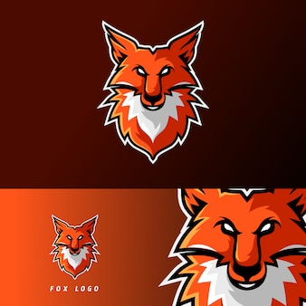 Шаблон логотипа игрового талисмана fox esport