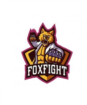 Fox fightスポーツロゴ