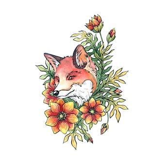 Fox in flowers.