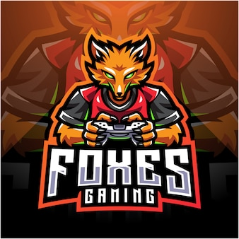 Fox gamer esport держит джойстик game-pad