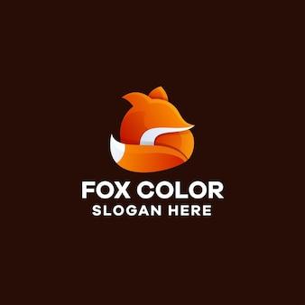여우 그라데이션 다채로운 로고 템플릿
