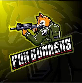 Fox gunners esportのロゴデザイン