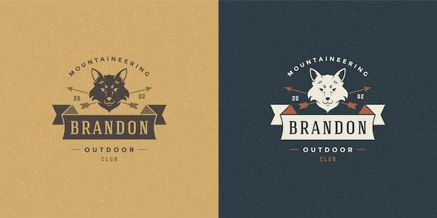 Иллюстрация эмблемы логотипа головы лисы