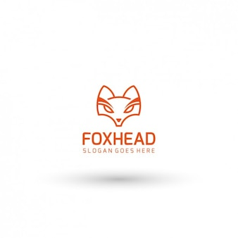 Fox head logo template