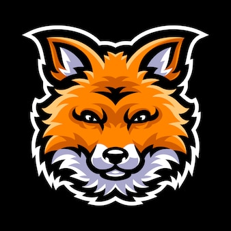 Fox head mascot logo template