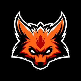 Fox headlogo gaming mascot sport шаблон
