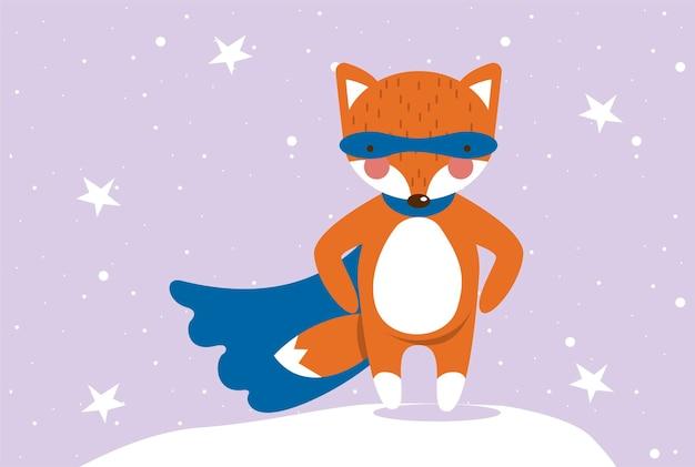 Fox hero in the sky