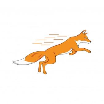 Fox illustration is running