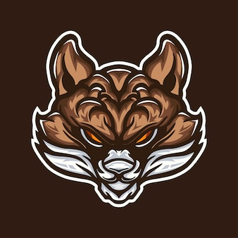 Лиса иллюстрация талисман дизайн логотипа