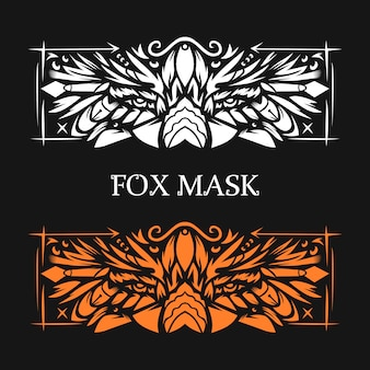 Fox illustration with ethnic style