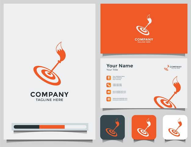 Fox logo and business card