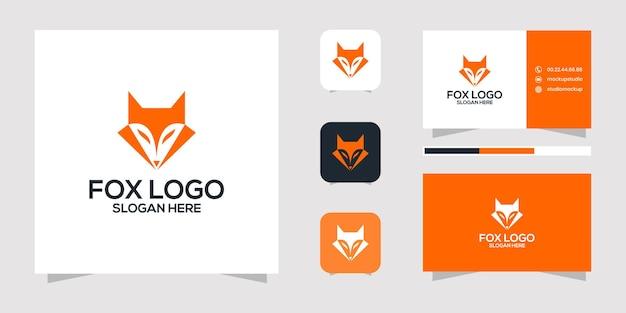Fox logo design and business card.