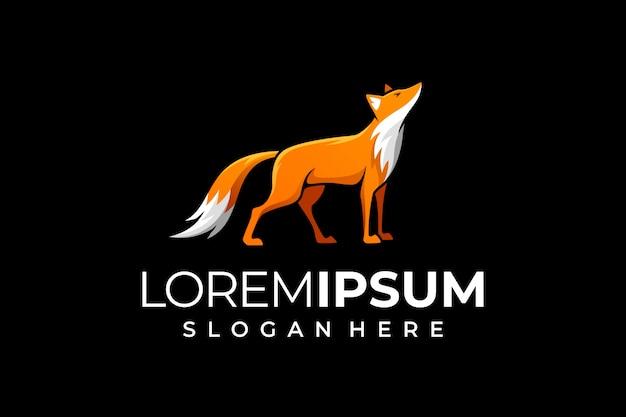 Фокс логотип на черном фоне