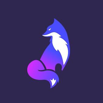 Фокс логотип шаблон градиента