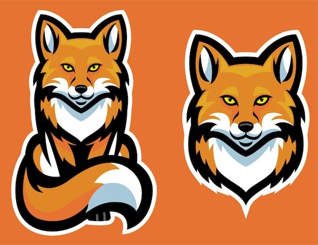 Набор символов талисмана лисы