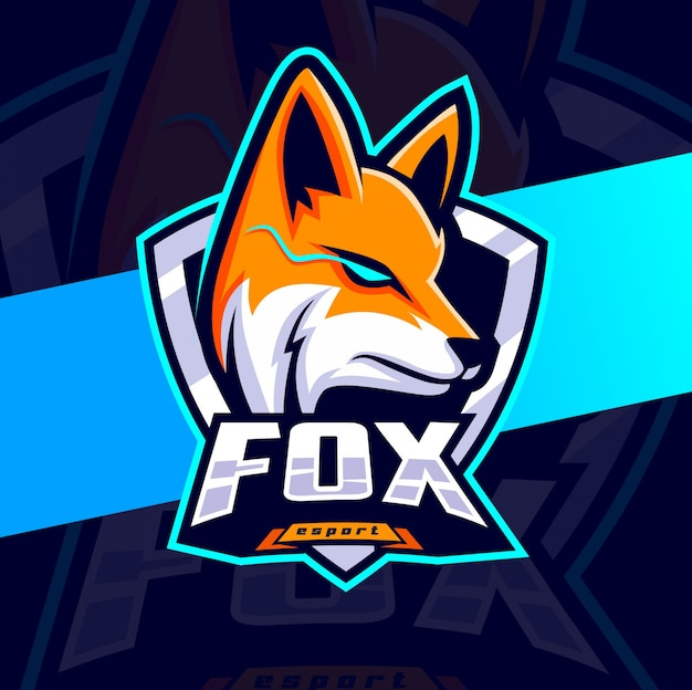 Fox mascot esport logo design