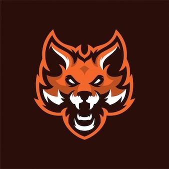 Fox mascot head sportロゴ