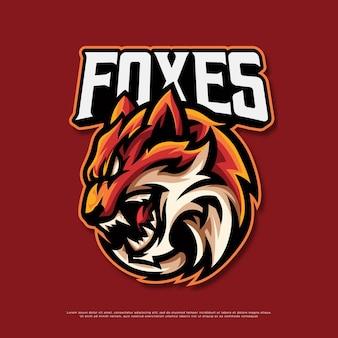 Fox mascot logo design