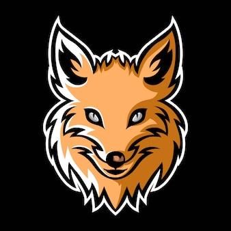 Фокс талисман логотип