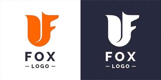Лиса, современный логотип и эмблема.