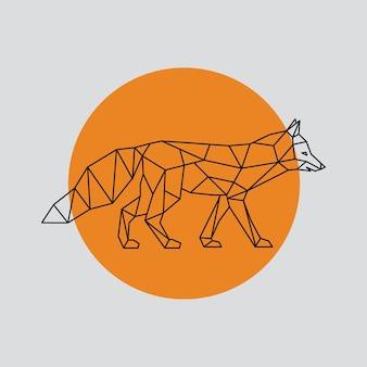 Fox in polygonal geometric style