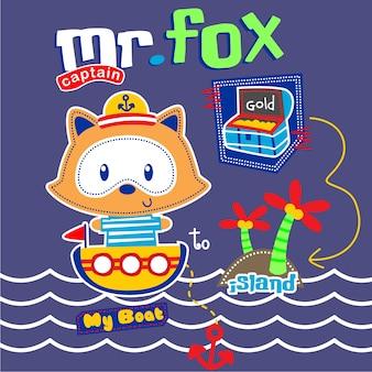 Fox the sailorman cute cartoon