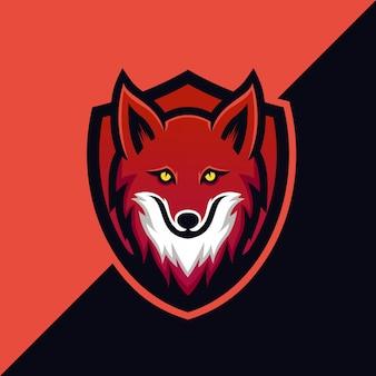 Шаблон логотипа fox shield