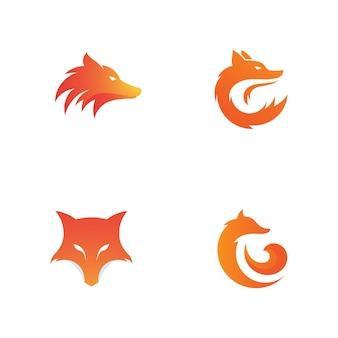 Фокс векторные иллюстрации силуэт дизайн иконок