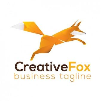 Fox шаблон логотипа