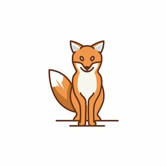 Шаблон логотипа fox