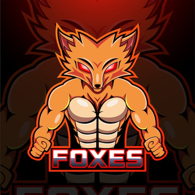 Foxes esportマスコットロゴ
