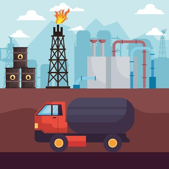 水圧破砕産業の石油