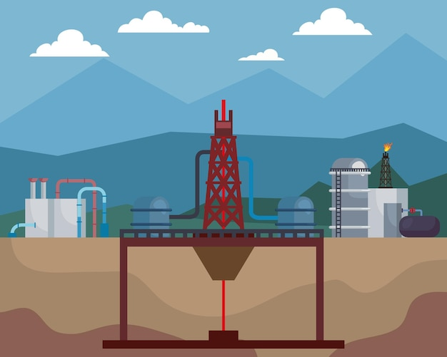 水圧破砕業界のシーン