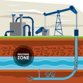 Фракционная зона нефтяной промышленности