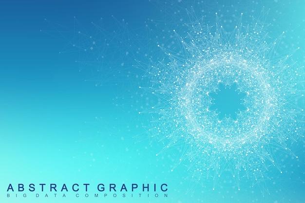 프랙탈 요소 디지털 데이터 시각화