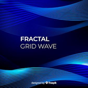 Фрактальная сетка волнового фона