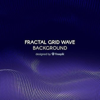 Fractal grid wave background