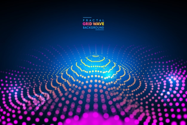 Fractal grid wave background